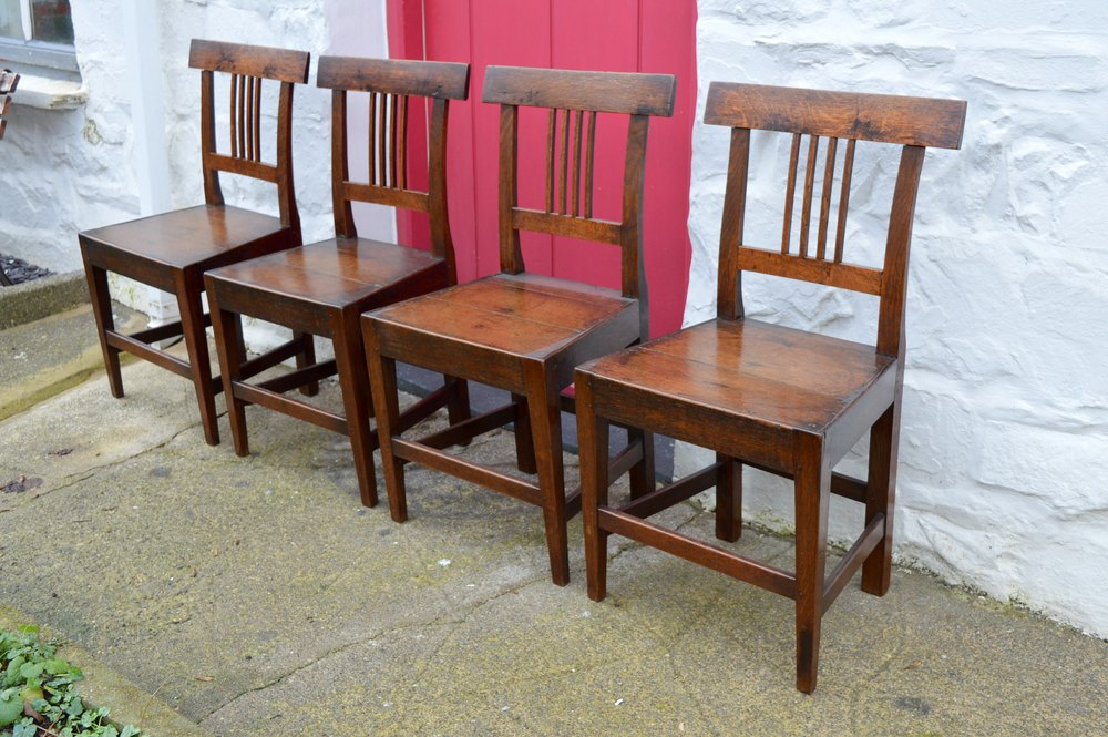Set Of 4 18thC Welsh Oak Dining Chairs Antiques Atlas