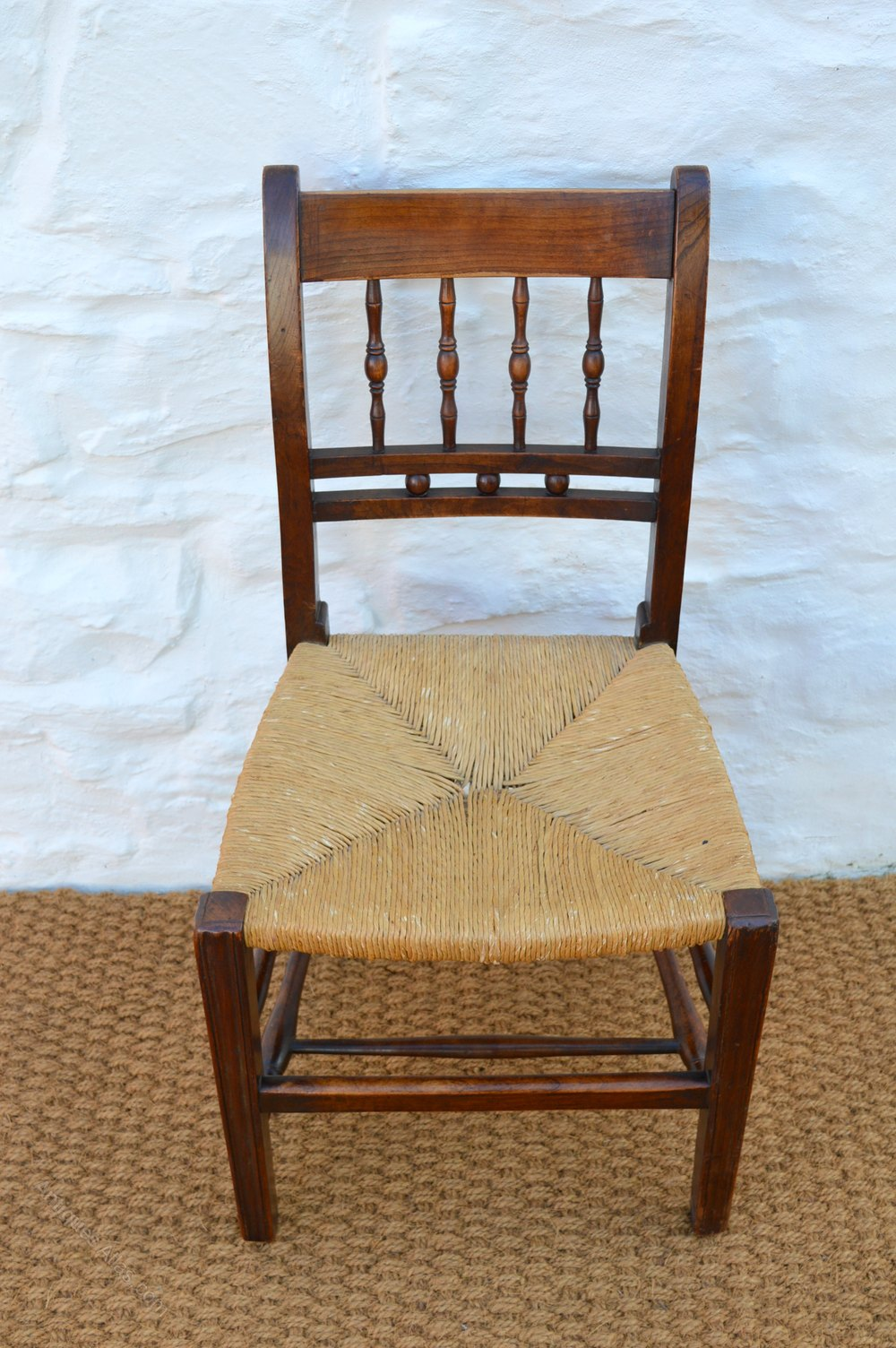 Set of six 19thc farmhouse dining chairs antiques atlas for Farmhouse style dining set