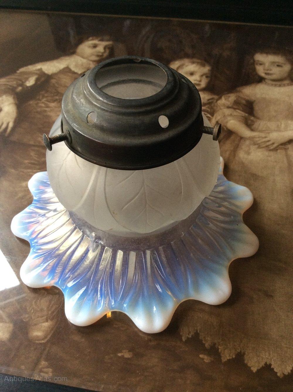 Antiques Atlas Beautiful Opaline Glass Lamp Shade