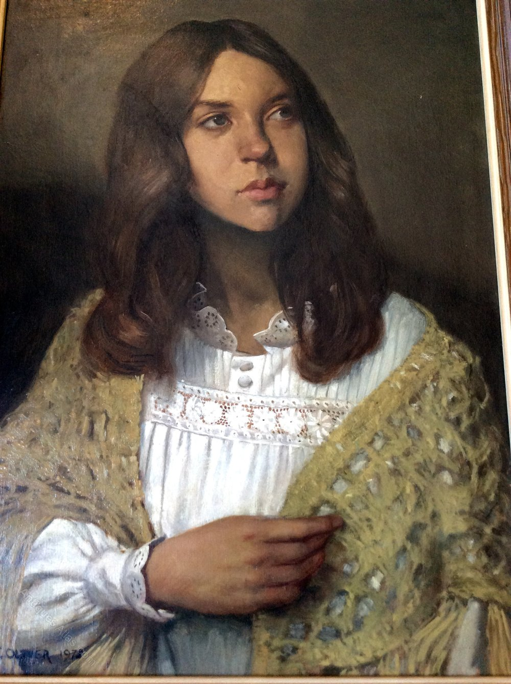 Antiques Atlas - Young Woman Oil Painting Portrait