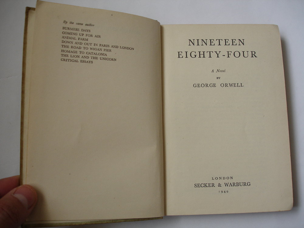 antiques atlas st edition george orwell book 1st edition george orwell 1984 book antique books