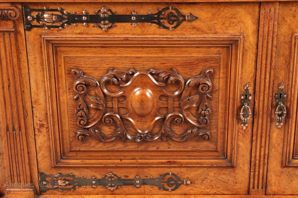 Magnificent Victorian Sideboard In Pollard Oak - Antiques Atlas