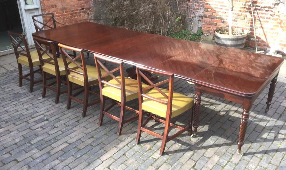 Georgian mahogany dining table seats 14 antiques atlas for 14 seater dining table