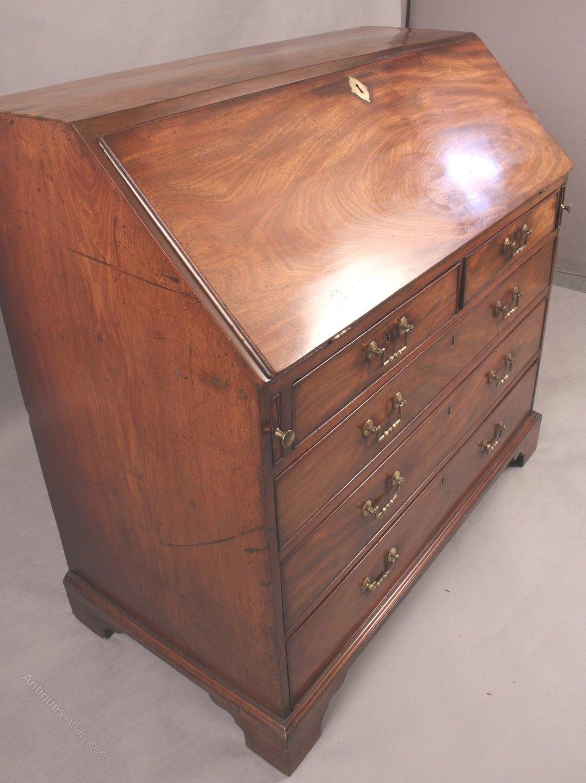 good georgian mahogany bureaux antiques atlas. Black Bedroom Furniture Sets. Home Design Ideas
