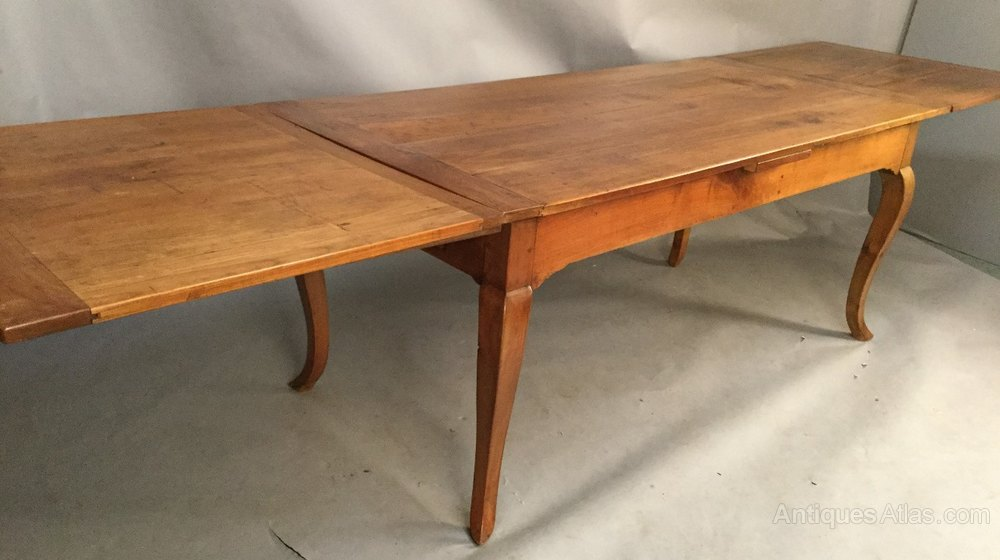 Large French Cherry Wood Farm House Dining Table