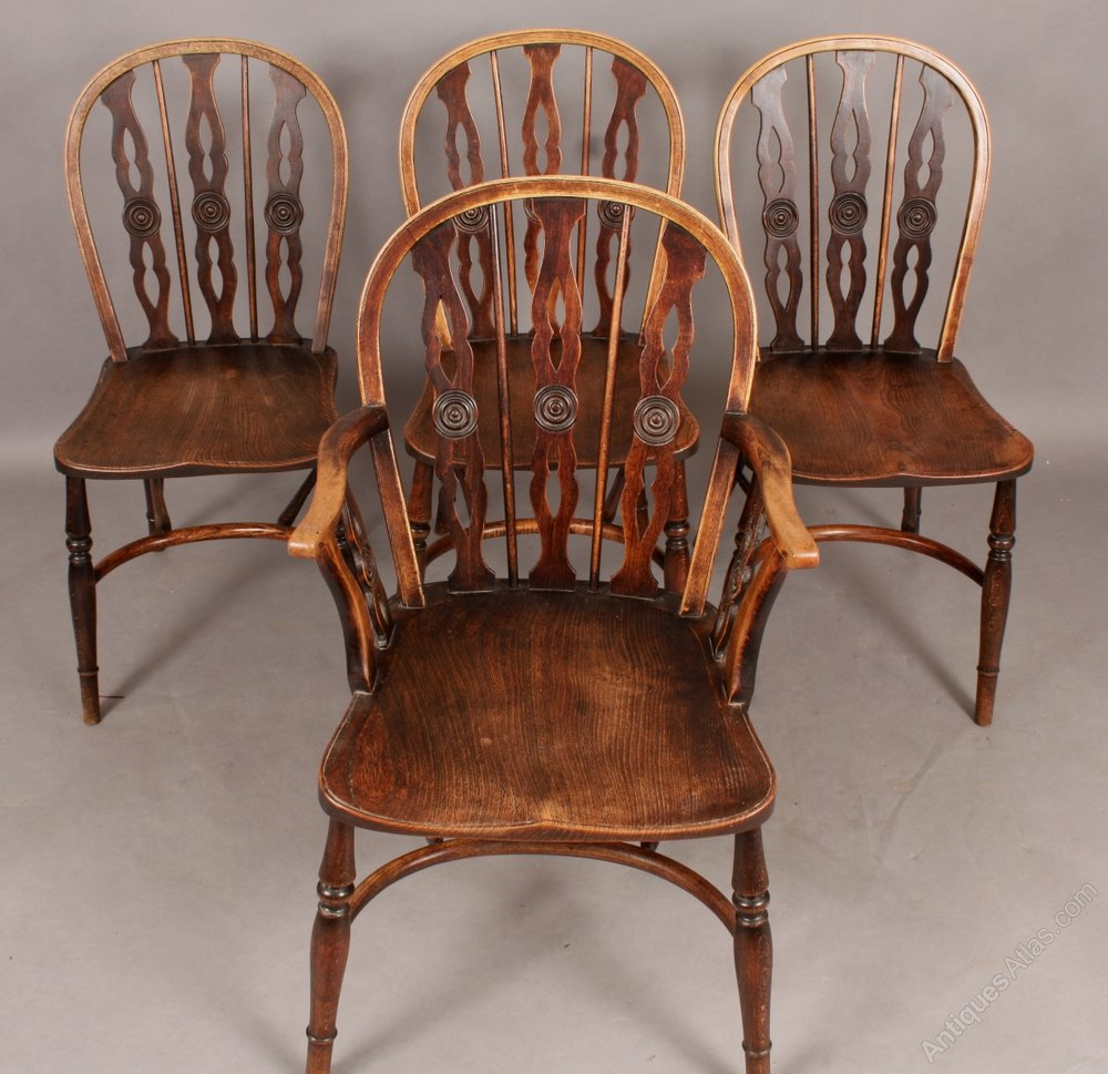 Set Of 4 Kitchen Chairs: Set Of Four Thames Valley Kitchen Chairs