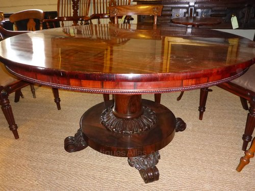 William IV Rosewood Dining Table Antiques Atlas