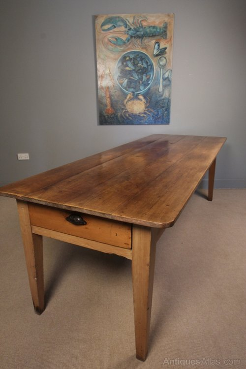 19th C English Pine Farmhouse Table Antiques Atlas