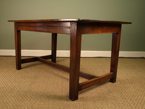 A Small Chestnut & Oak Farmhouse Table Antiques Atlas