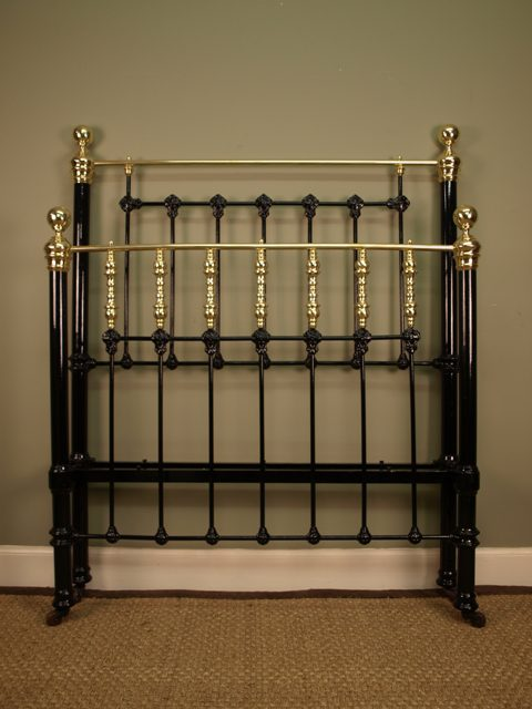 Original Victorian Brass Beds : Classic victorian brass iron bed ft antiques atlas
