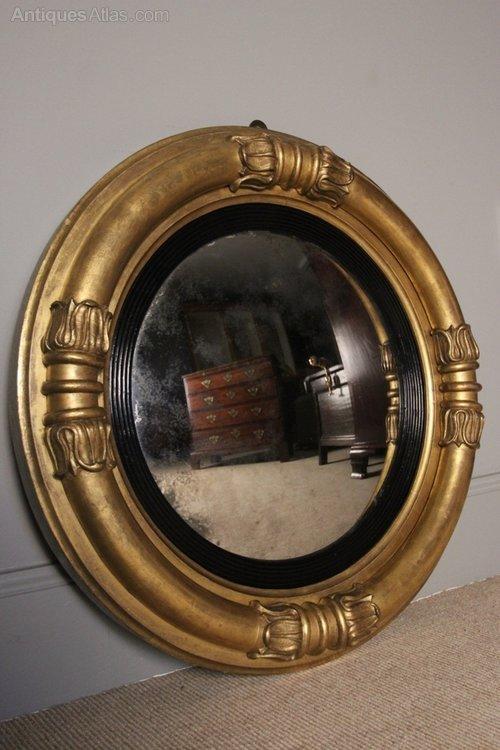 Antiques atlas quality william iv convex mirror for Mirror quality