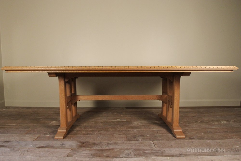 Superb Large Oak Refectory Kitchen Dining Table Antiques  : SuperbLargeOakRefectoryKitas129a906z from www.antiques-atlas.com size 1000 x 667 jpeg 71kB