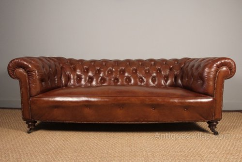 Superb Victorian Leather Chesterfield - Antiques Atlas