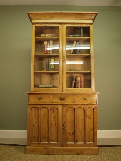 antique pine bookshelves 2