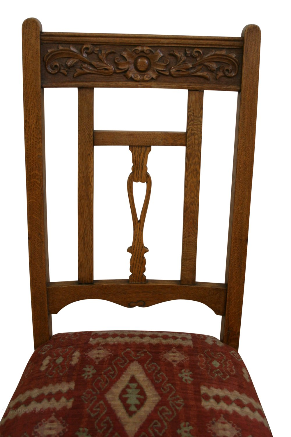 A Set Of Six Arts & Crafts Oak Dining Chairs - Antiques Atlas