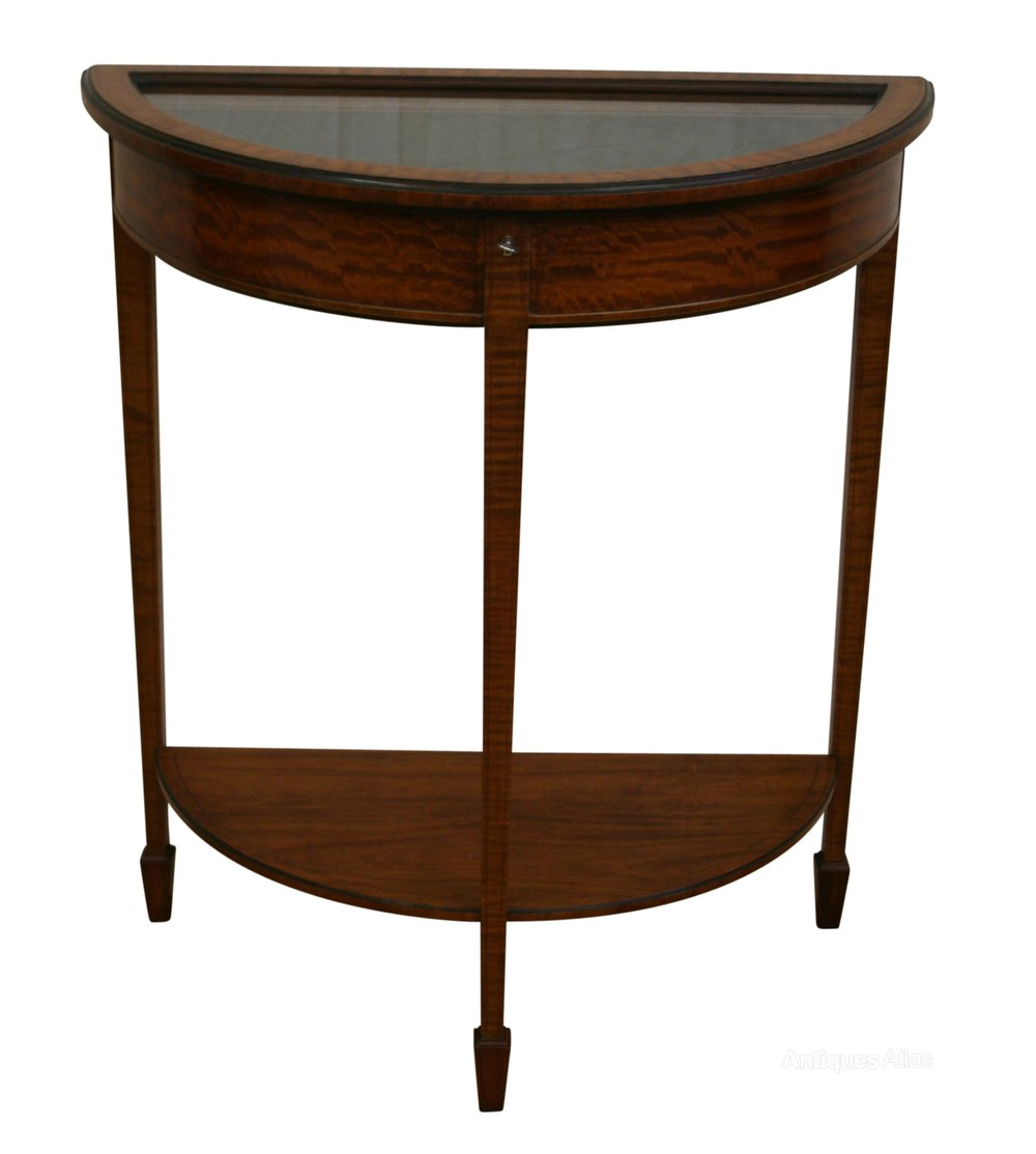 An edwardian demi lune bijouterie display table for Display table