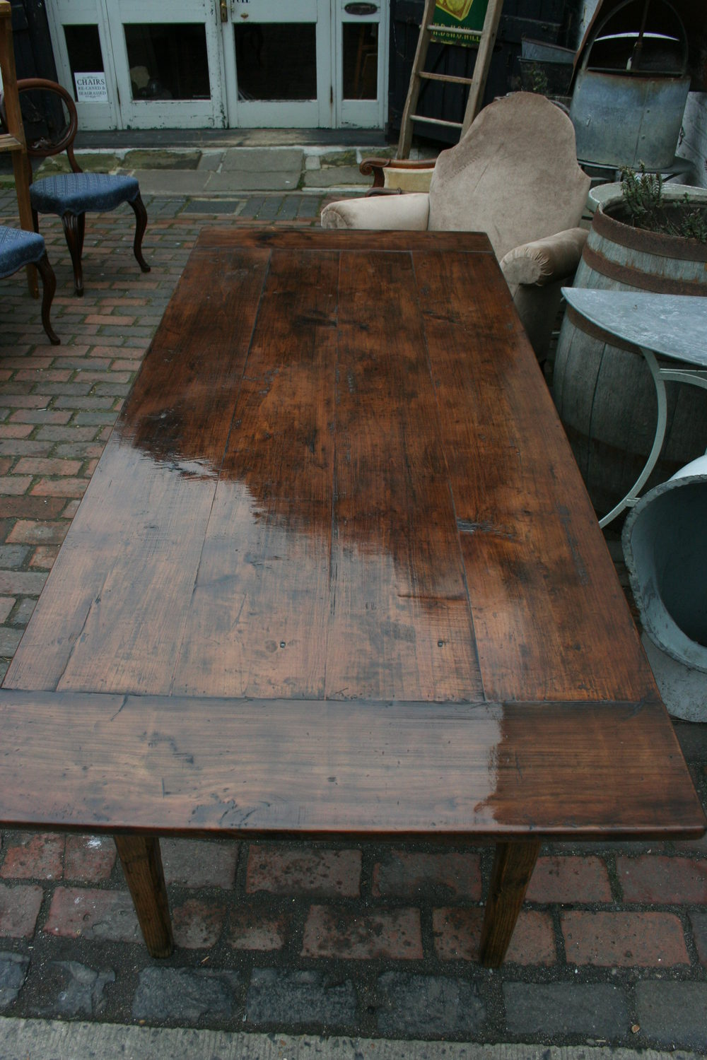 Antique Cherry Wood Farmhouse Table Antiques Atlas