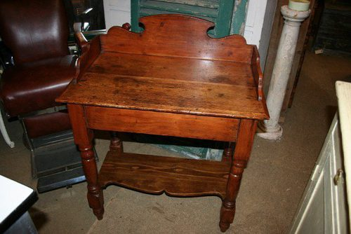 Antique Pine Wash Stand / Side Table ...