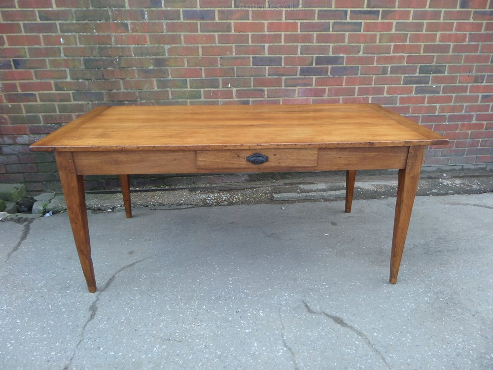cherry wood kitchen table with drawer antiques atlas