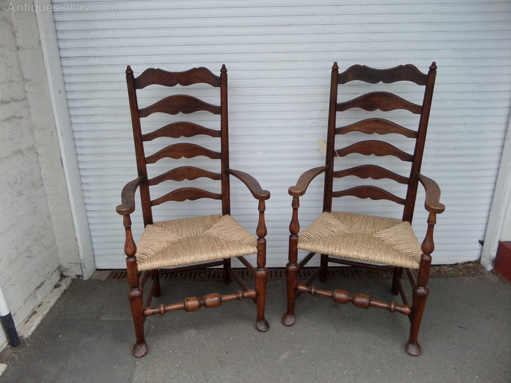 Ladder back chairs antiques atlas Ladder back chairs