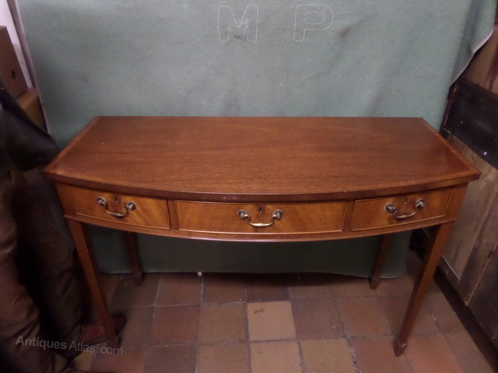 Mahogany Demi Lune Table Antiques Atlas