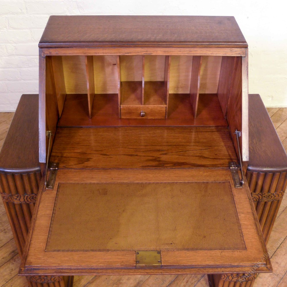 art deco oak bureau antiques atlas On deco bureau