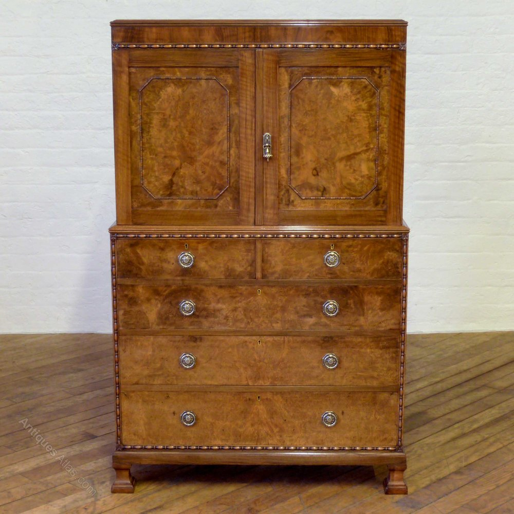 Charles walker sons walnut linen press antiques atlas for Linen press