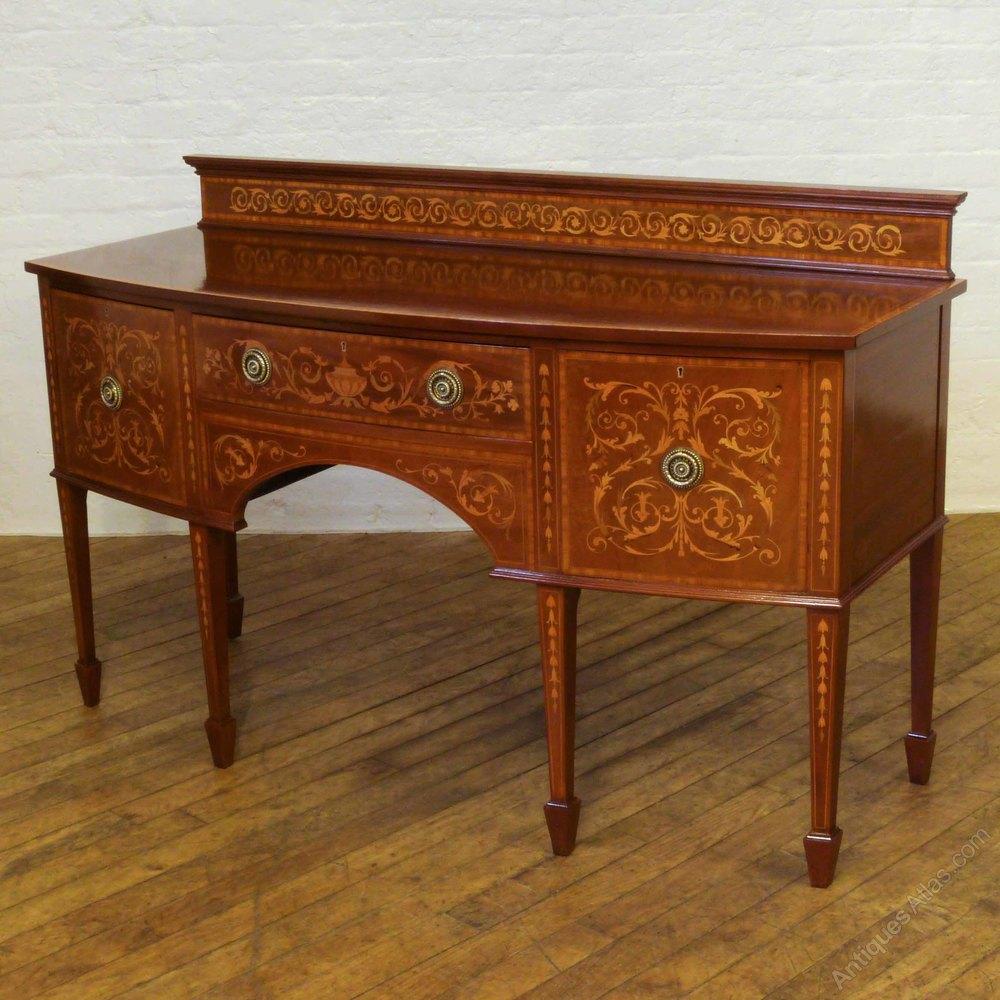 edwardian inlaid mahogany sideboard antiques atlas. Black Bedroom Furniture Sets. Home Design Ideas