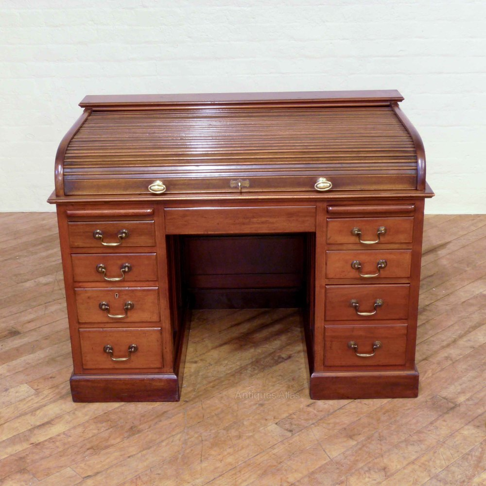 Edwardian Mahogany Rolltop Desk Antiques Atlas