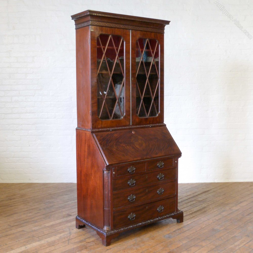 georgian mahogany bureau bookcase antiques atlas. Black Bedroom Furniture Sets. Home Design Ideas