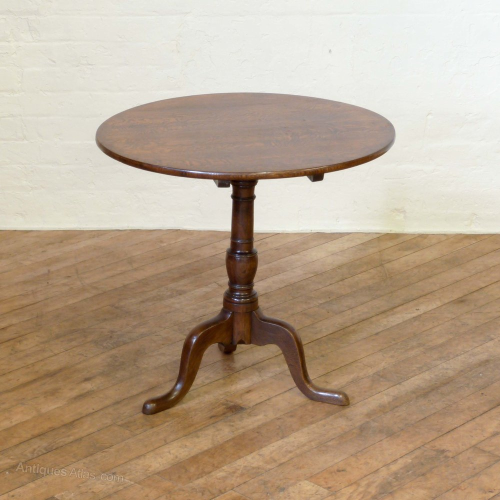 georgian oak tripod table antiques atlas. Black Bedroom Furniture Sets. Home Design Ideas