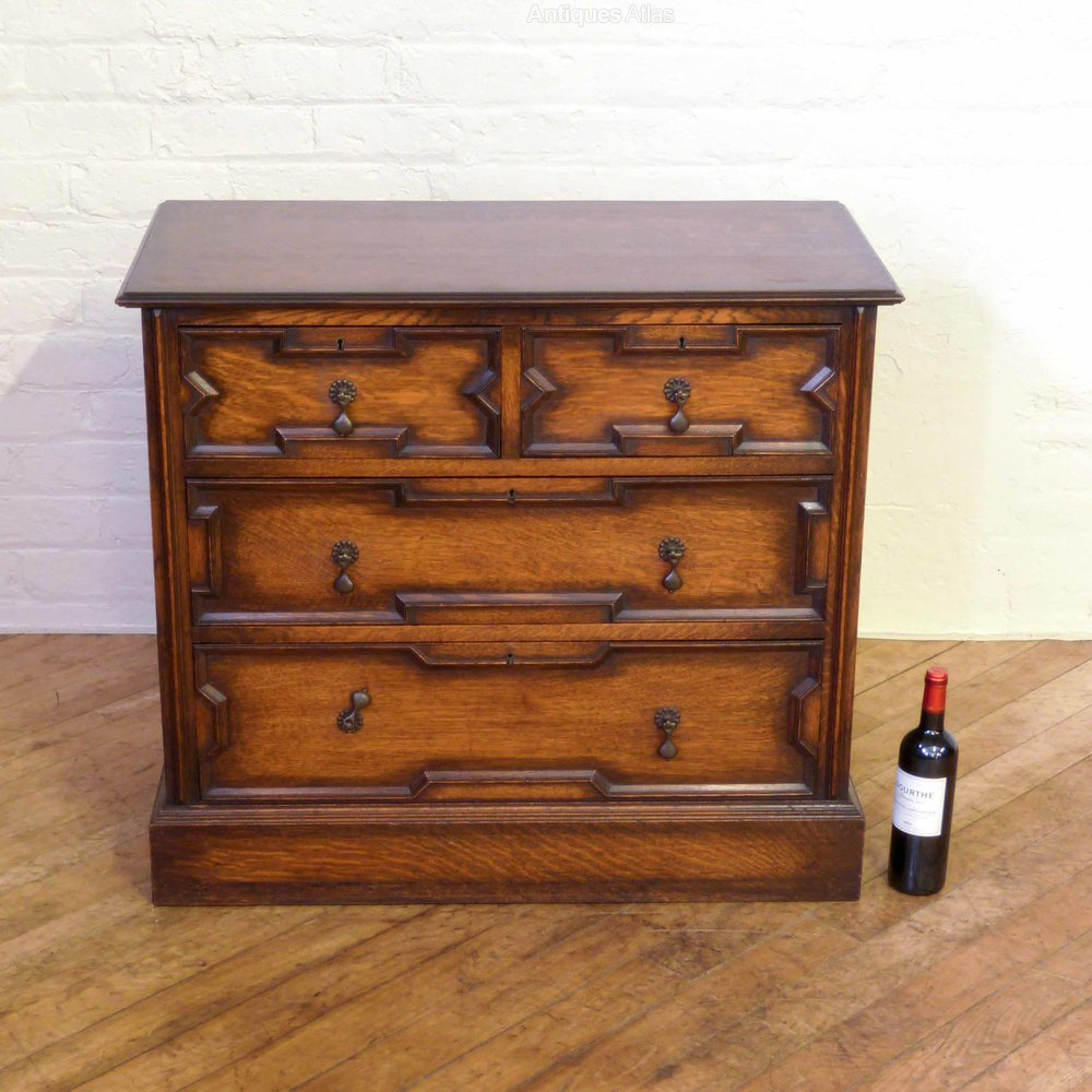 Jacobean Style Oak Chest Of Drawers Antiques Atlas