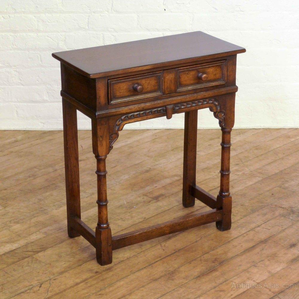 Oak side table antiques atlas