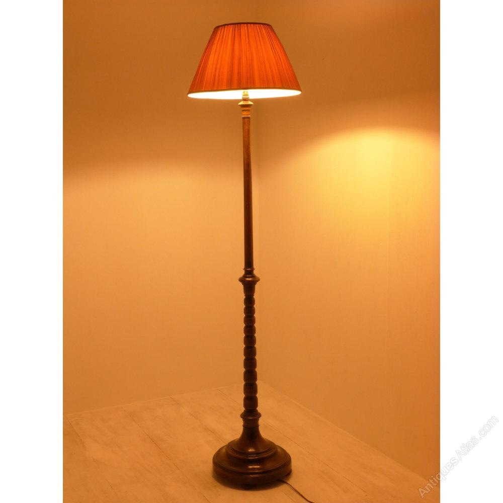 Oak Standard Lamp