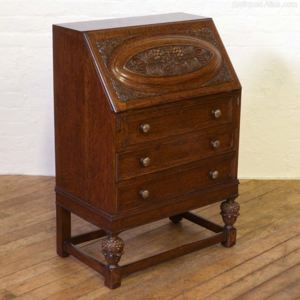 Oak writing bureau antiques atlas for Bureau antique