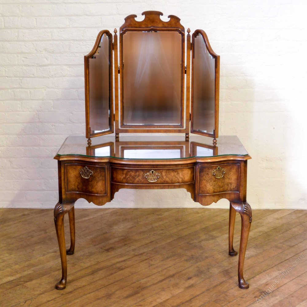 Antiques atlas louis dressing table - Queen Anne Style Walnut Dressing Table Antique