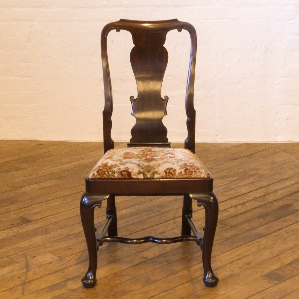 Set of six queen anne style mahogany chairs antiques atlas for Queen anne style