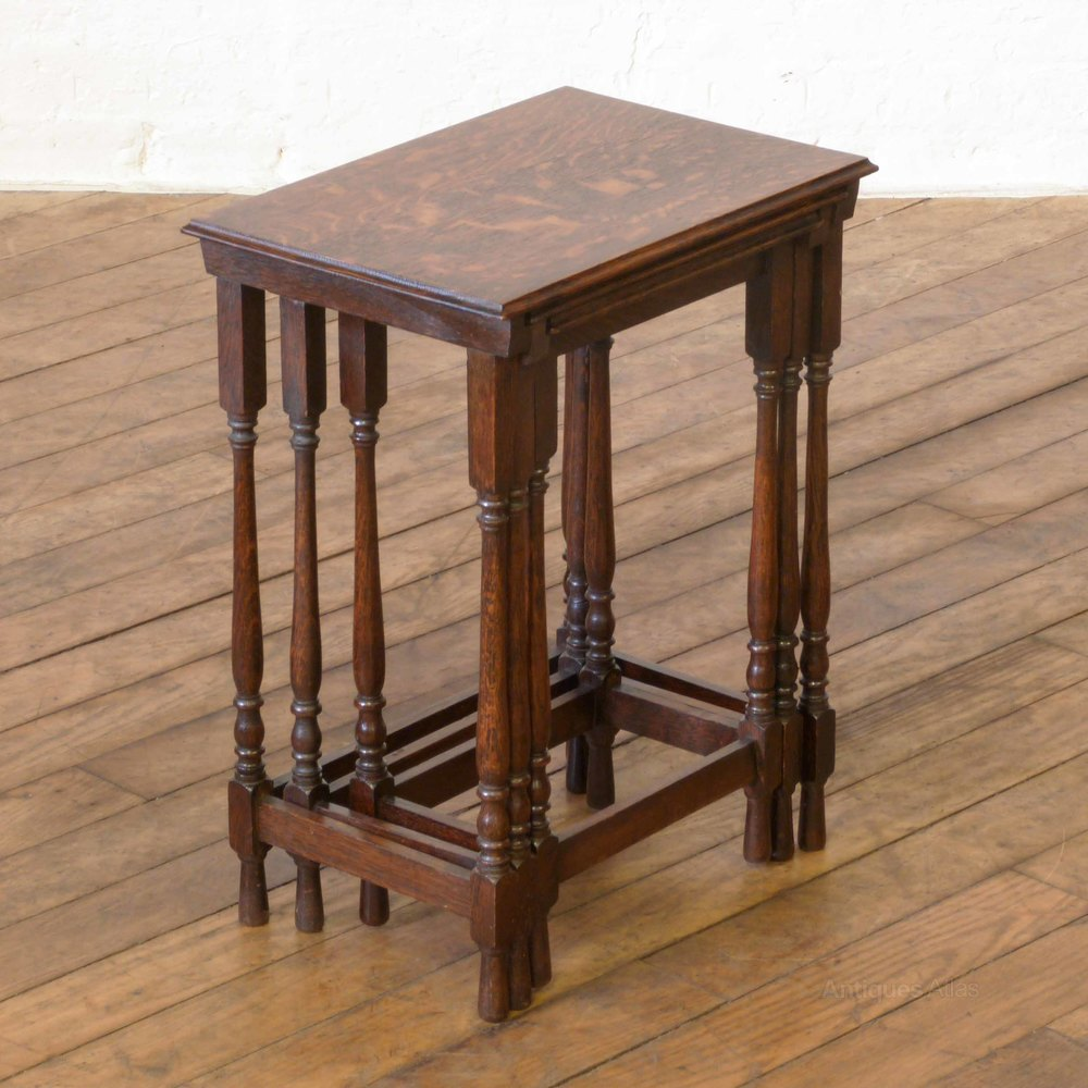 Small oak nest of tables antiques atlas for Small nest of tables