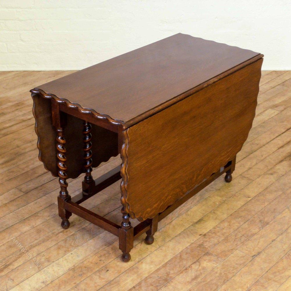 Solid Oak Gateleg Table Antiques Atlas