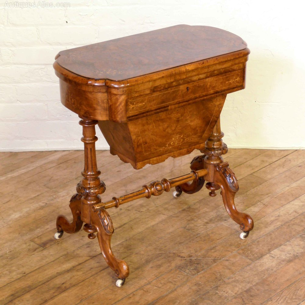 Victorian Walnut Games Amp Sewing Table Antiques Atlas