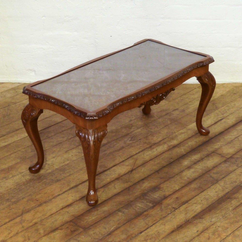 Walnut coffee table antiques atlas for Walnut coffee table