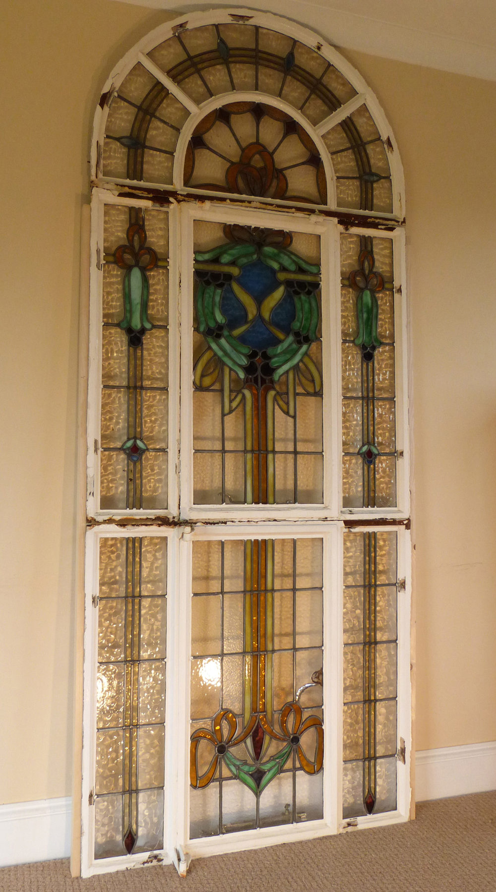 Old Leaded Glass Windows : Antiques atlas a large stained glass leaded window