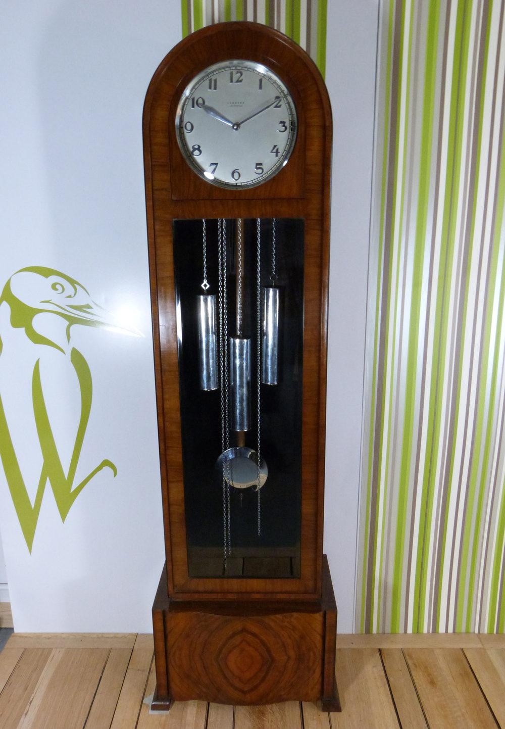 Antiques Atlas A Walnut Art Deco Grandfather Clock