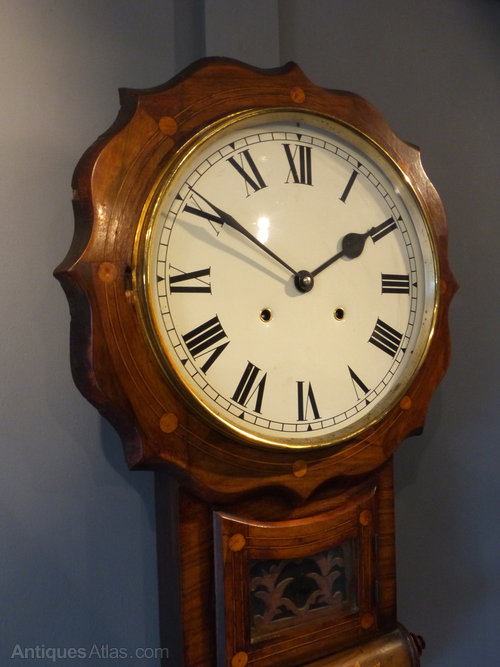 Antiques Atlas American Drop Dial Wall Clock