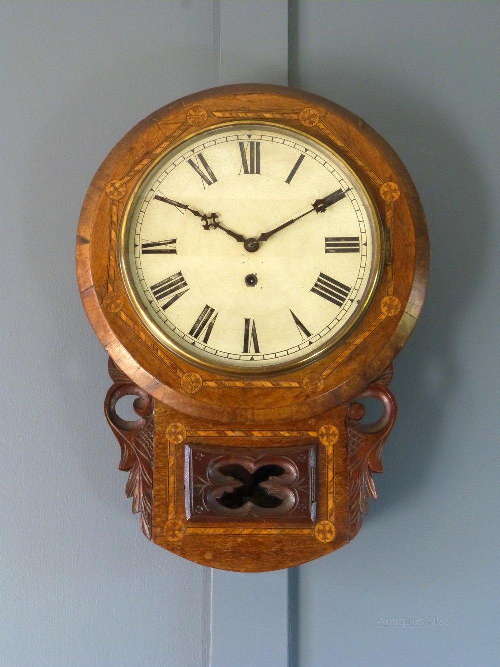 Antiques Atlas American Drop Dial Wall Clock