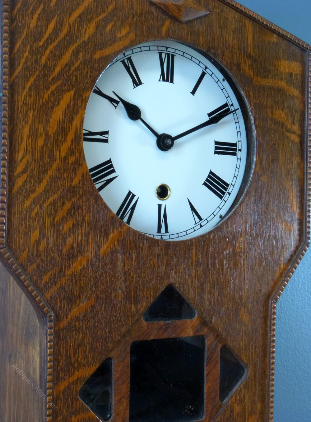 Antiques atlas an oak arts crafts wall clock for Arts and crafts clocks for sale