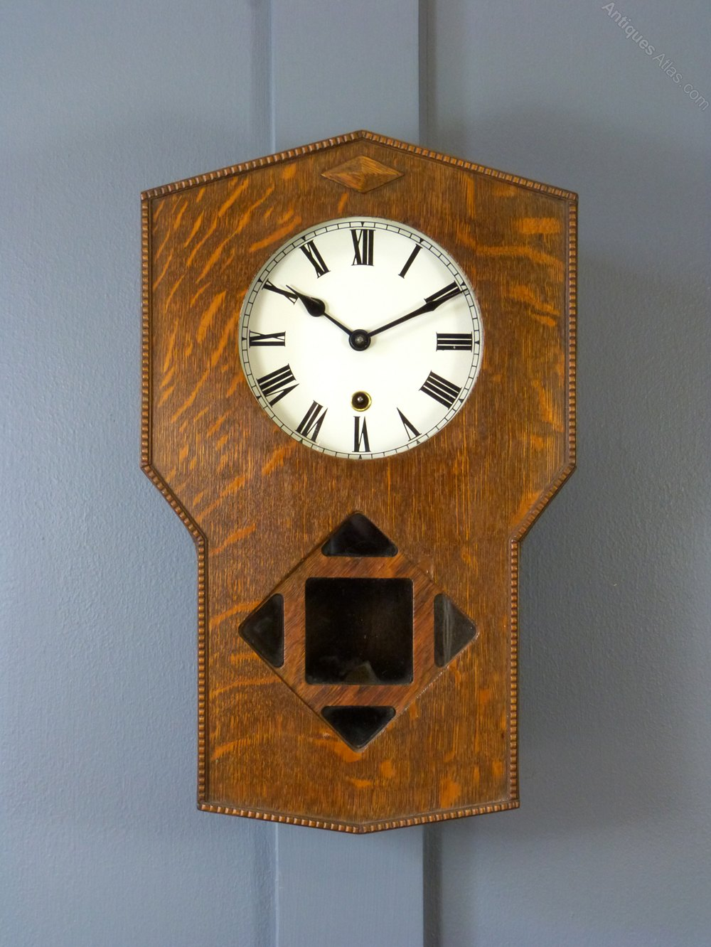 Antiques Atlas An Oak Arts Amp Crafts Wall Clock