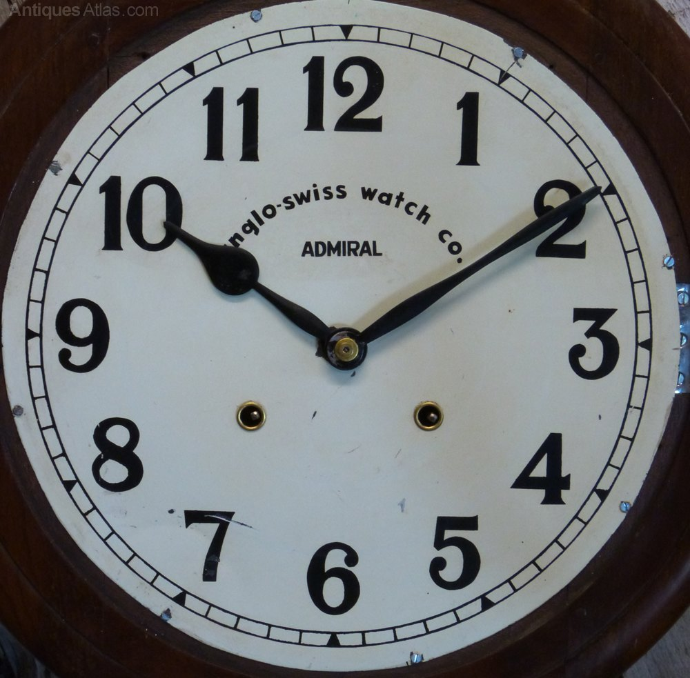 Antiques atlas anglo swiss railway school wall clock - Swiss railway wall clock ...
