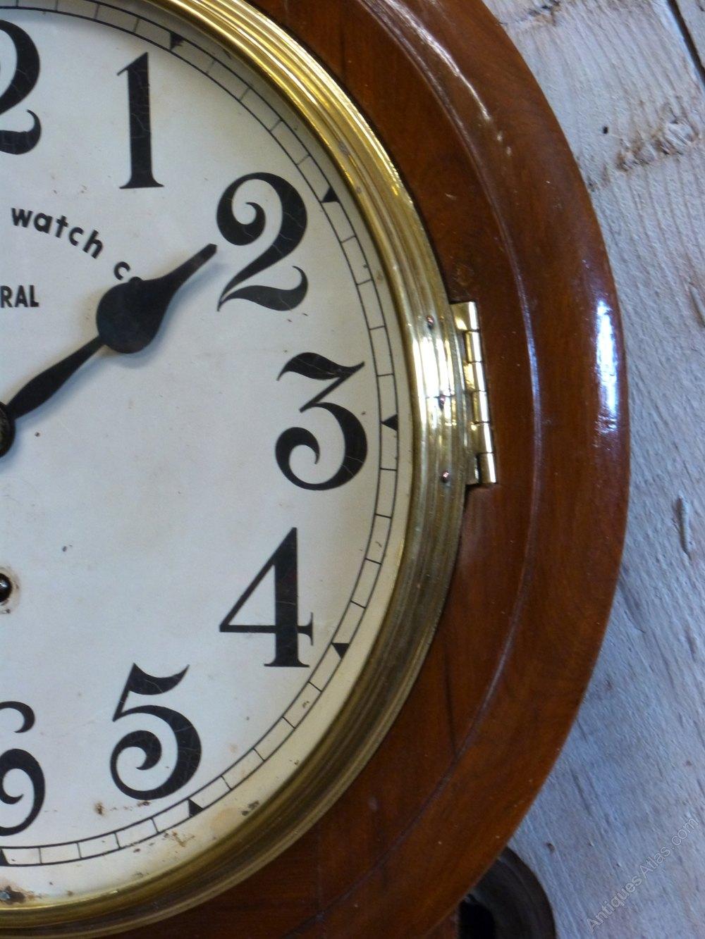 Antiques Atlas Anglo Swiss Railway School Wall Clock