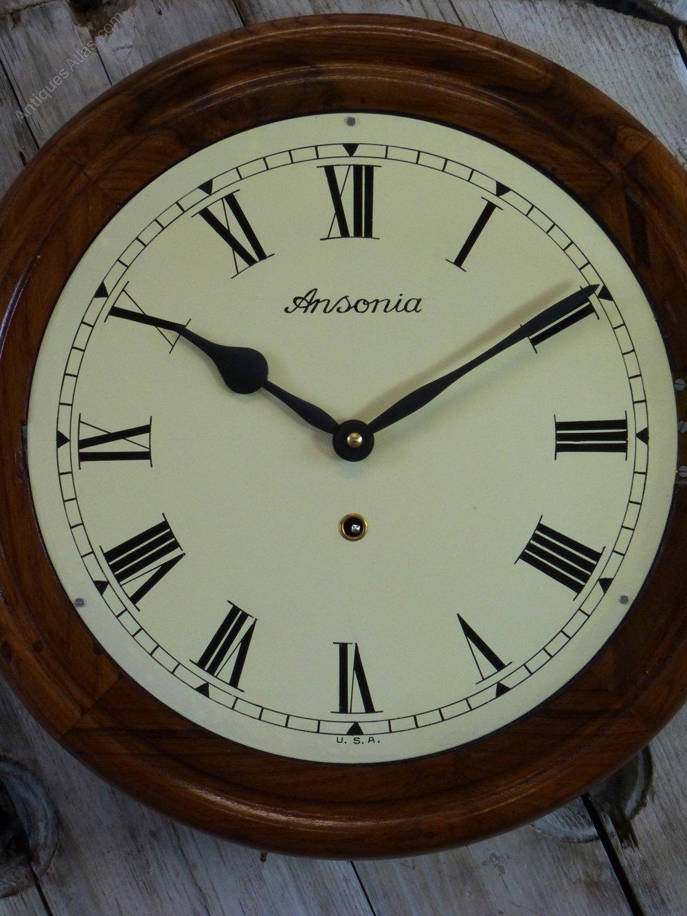 Antiques Atlas Ansonia Railway Wall Clock